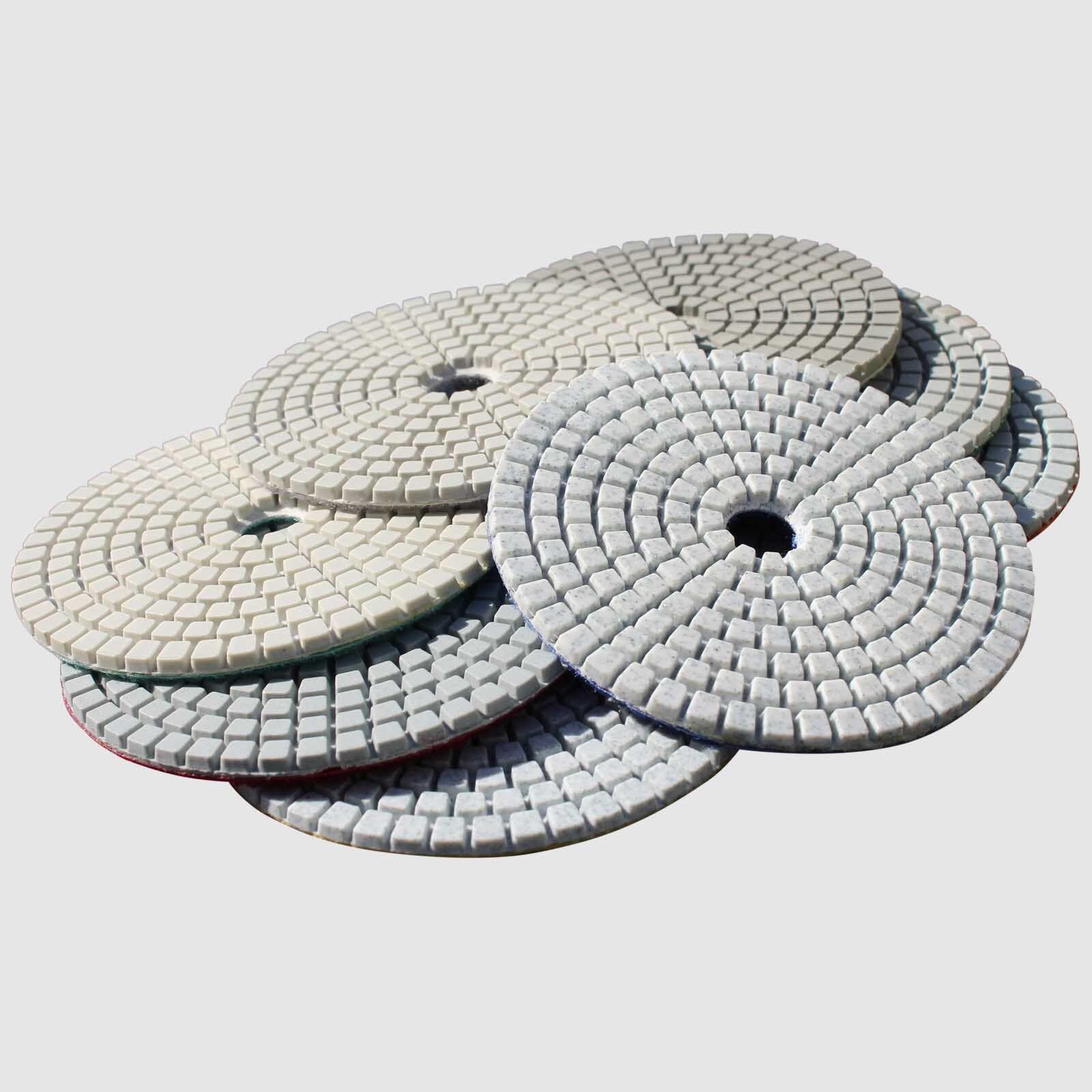 Diamond Polishing Pads Wet Dry 5 Inch Set Kit For Granite