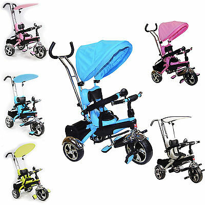 Baby Kids Children Smart Ride on Trike Tricycle 3 Wheel 4 In 1 Bike