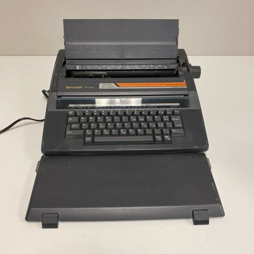 Sharp PA-3000II Portable Electric Typewriter Tested and Working NICE w/ Cover