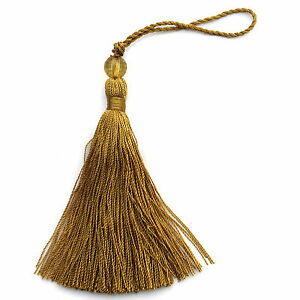 Shabby chic glass bead and thread tassels for decoration.