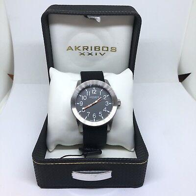 Men's Akribos XXIV Watch Water Resistant Wristwatch Beautiful Original Box Ak779