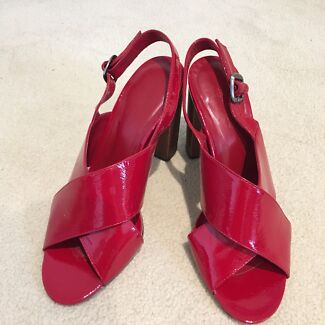 Country Road Red Patent Leather Heels