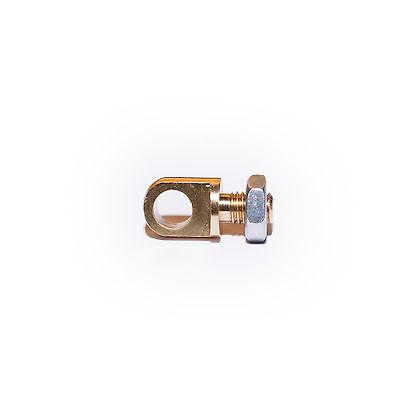 Augenschraube M8 + Mutter - Messing – Gabelschraube – flach – CNC LED  / Montage ()