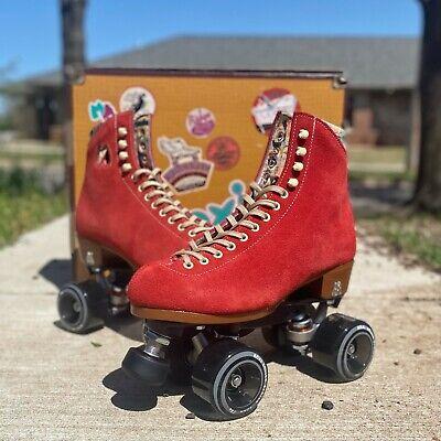Moxi Lolly Roller Skates Poppy Red – Size 7 (w8-8.5)