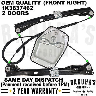 ALL VW GOLF MK5 2003 2009 FRONT RIGHT DRIVER ELECTRIC WINDOW REGULATOR 23 DOORS