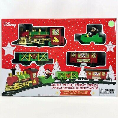 Disney Mickey Mouse Holiday Express - 12 Piece Christmas Ready To Play Train Set