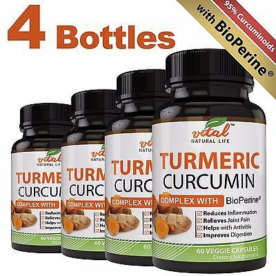 Turmeric Curcumin Complex Root   Bioperine   Advanced Formula    240 Capsules