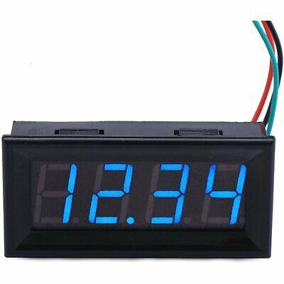 Led Digital Voltmeter Dc 0-33v 4 Digits 3 Wires Voltage Meter Panel Gauge