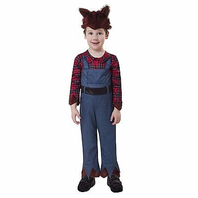 Little Werewolf Toddlers Halloween Costume Size 2-4 Years NEW Jumpsuit & Hat ](Toddlers Halloween)