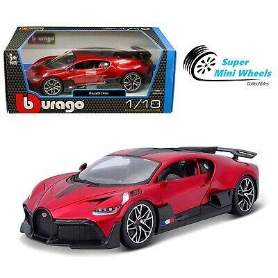 Bburago 1:18 Bugatti Divo (Red) Diecast Model