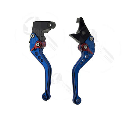Blue CNC Shorty Brake Clutch Levers For Yamaha YZF R6 99-04 R1 R6s Control Hand