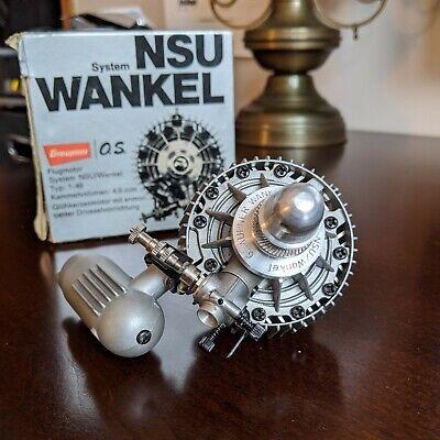 BEAUTIFUL, NEVER USED NOS OS NSU Graupner Wankel 1-49; 4,9ccm; OS-I .30;