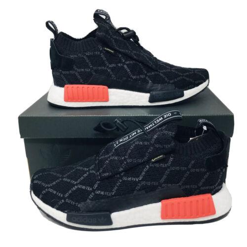 Adidas NMD TS1 GTX Primeknit  Gore-Tex Shoes Black Red Sneak
