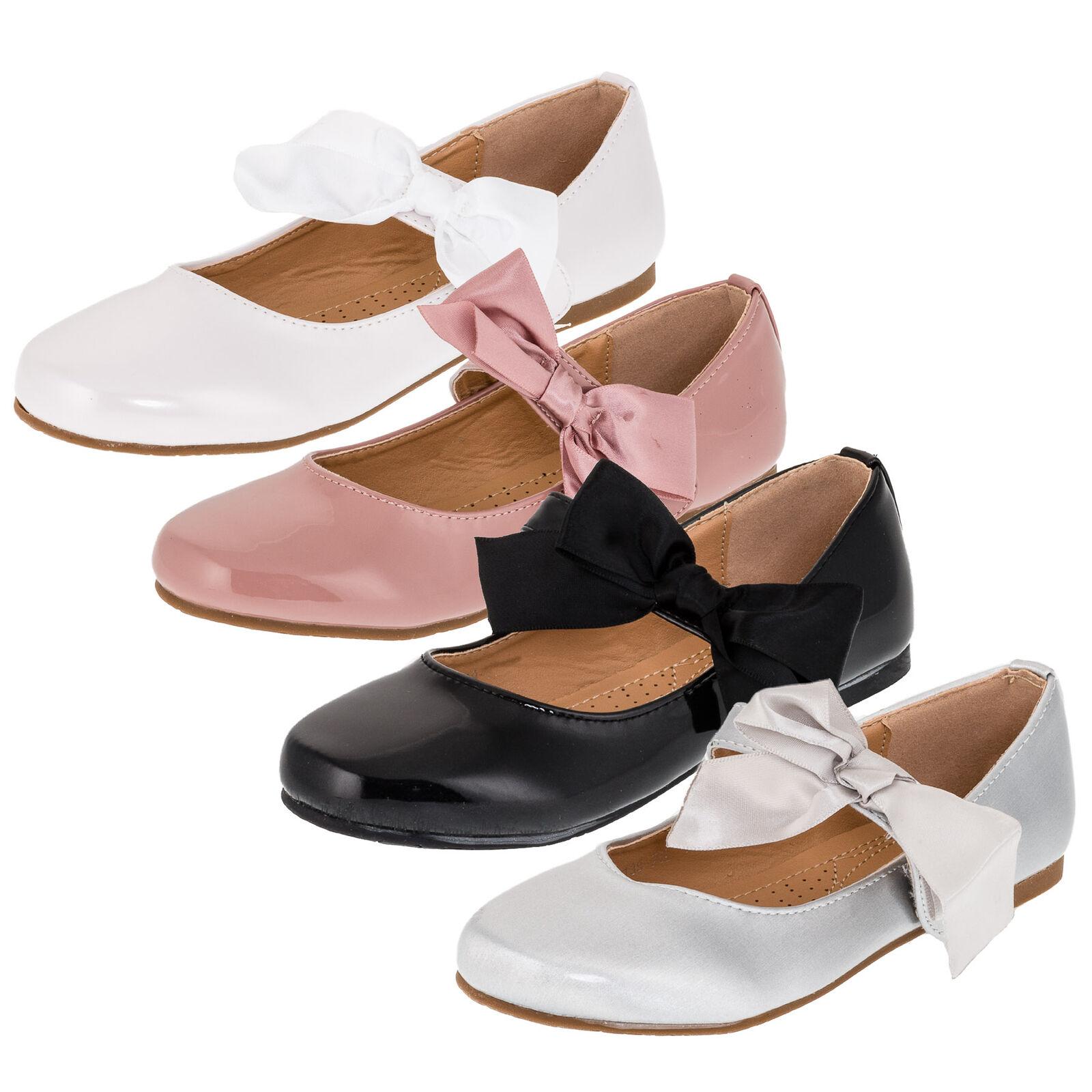 ad4a663c79b8fb Festliche Kinder Mädchen Prinzessinnen Schuhe Ballerinas mit Schnalle  Festschuhe