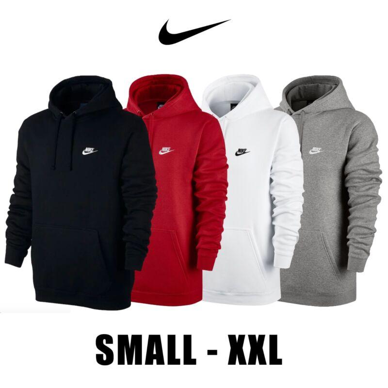 70e601ee94af Nike Club Fleece Pullover Longsleeve Men s Hoodie 804346 White Black Red  Grey