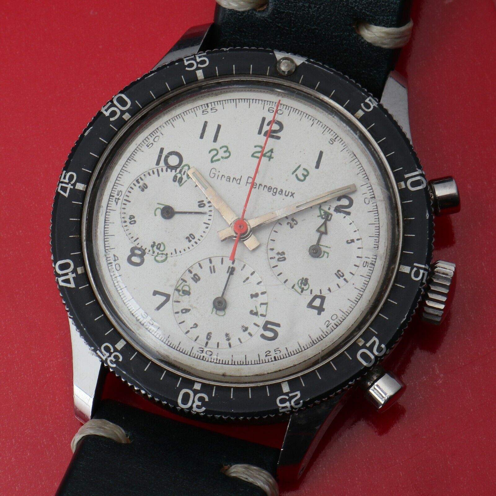 Vintage Girard-Perregaux Chronograph Wristwatch Valjoux 72 Flyback RARE - watch picture 1