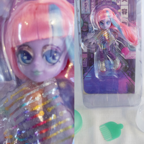 """Moose Toys 5"""" SHIMMER SURGE Action Figure Doll Capsule Chix Space Spectra Robot"""