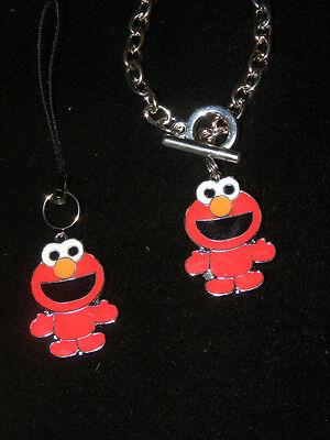 Elmo sesame street cell phone charm or Bracelet or Key chain Charm New