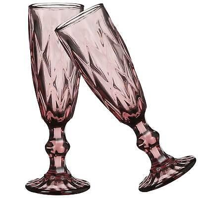 Boulogne Sektglas violett - 20 x Ø 6 cm - 2 Stück - Champagnerglas - Wasserglas
