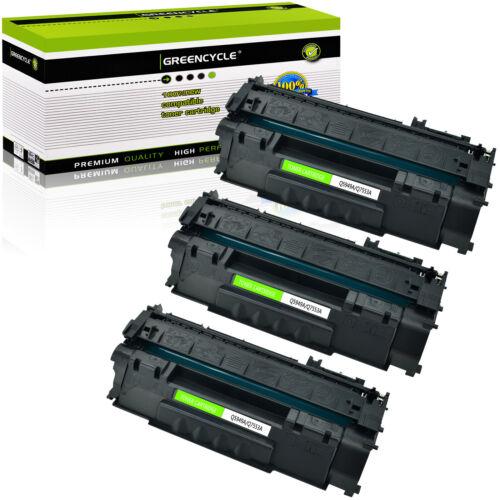 3 Pk Q7553A 53A BK Toner Cartridge For HP LaserJet P2014N P2