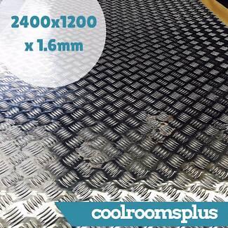 2400 x 1200 x 1.6mm Aluminium Checker Plate Sheet Tread