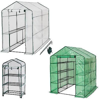 Serra da giardino acciaio PVC per piante con scaffali orto esterno