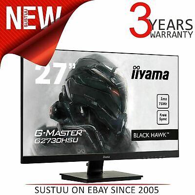 "iiyama G2730HSU-B1 G-Master Black Hawk HD LED 75Hz Gaming Monitor│FreeSync│27""│"