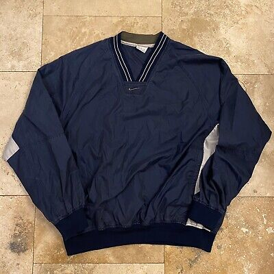 Vintage Nike Windbreaker Gray Tag Size Large Center Check