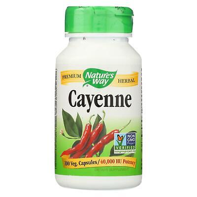 Nature's Way Cayenne and Pepper - 450 mg - 100 Capsules -Single Herb Supplements Cayenne Pepper 100 Capsules