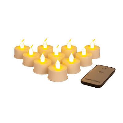 10x LED Teelichter Set mit Fernbedienung inkl. Batterien elektrische Kerzen