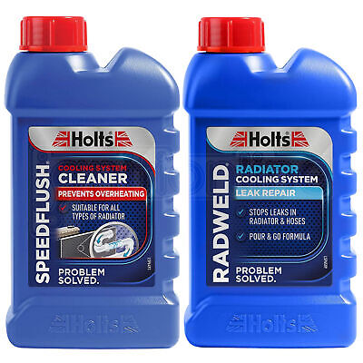 Holts RADWELD Repairs Radiator Weld & SPEEDFLUSH Cooling System Cleaner 250ml