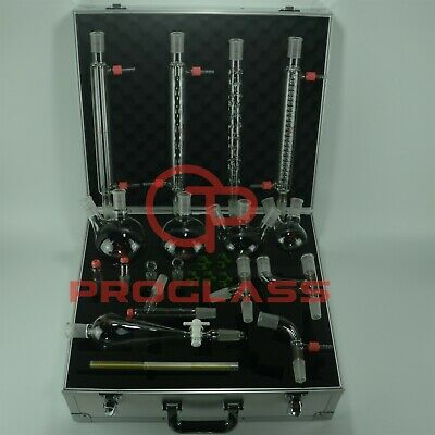 Proglass Advanced Organic Chemistry Kit 2440 With Cabinet Box Lab Glassware Kit