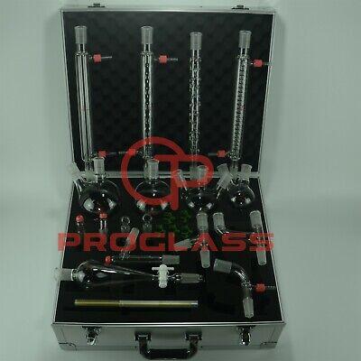 Proglass Advanced Organic Chemistry Kit 2440 With Cabinet Box Lab Glassware Kit