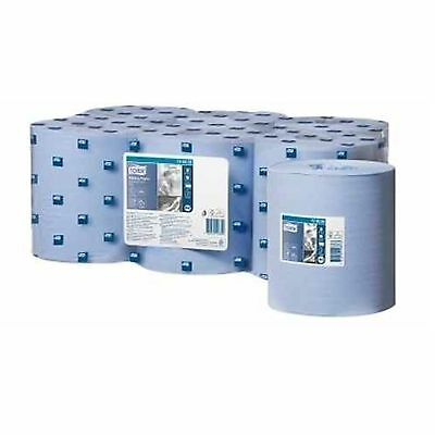 6 x Tork M2 Advanced Centrefeed Wiper 420 Blue Towel Rolls