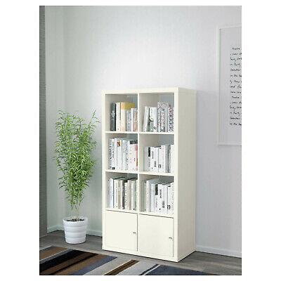 Kallax Estantería Con 2 Puertas, 77x147cm, Estante para Libros Aparador Armario