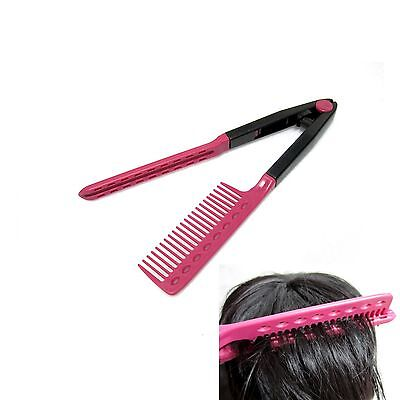 New Hair Straightening Tong Brush Hairdressing Salon Styling Comb