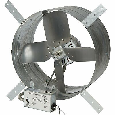 Strongway 14in.gable Exhaust Fan-18hp1600cfmwith Thermostathumidistat