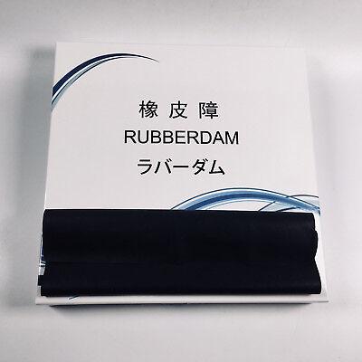 Dental Rubber Dam Natural Latex 6x6 Adult Black Strong Vision 1 Box 36sheet