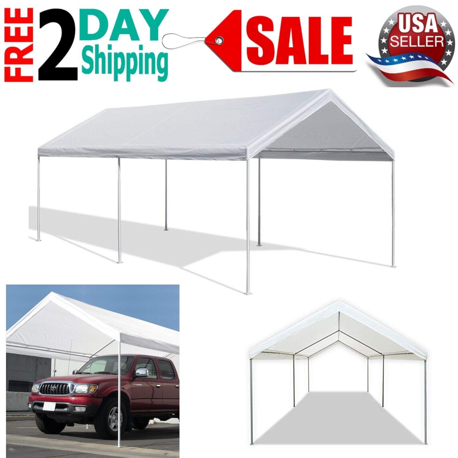Carport Canopy Tent 10 X 20 Feet Domain White Portable Garag