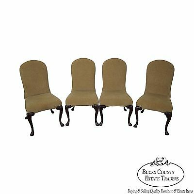 Ferguson Copeland Set of 4 Queen Anne Upholstered Side Chairs ()