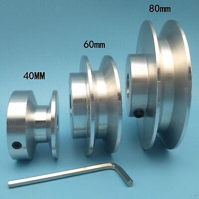 Od 40-80mm Hole Dia 8-25mm V-groove Step Pulley For 12 V Rubber Belt - Select