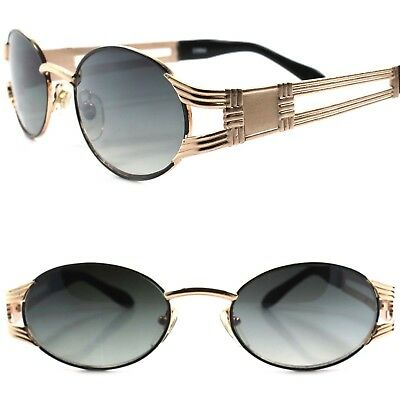 Old stock True Vintage 70s 80s Urban Indie Hip Swag Fashion Gold Oval Sunglasses