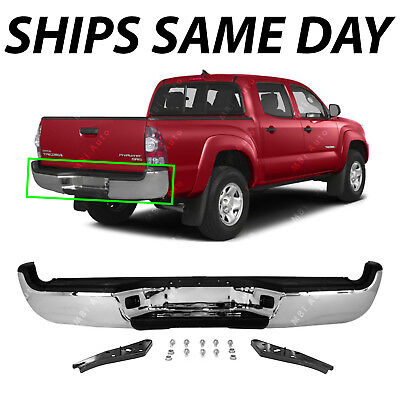 NEW Steel   Complete Chrome Rear Bumper Assembly for 2005 2015 Tacoma 05 15 SR5