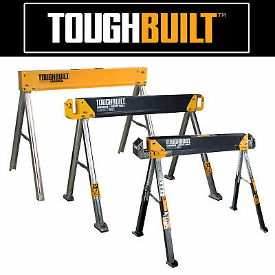 Toughbuilt Sawhorse C300 /C550 / C650 / C700 - Pro Metal Folding Saw Horses