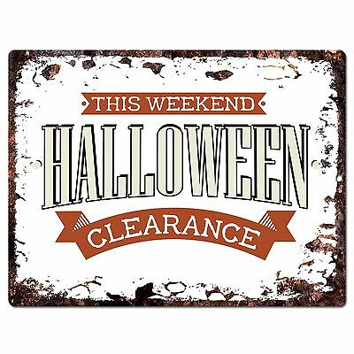 PP1902 HALLOWEEN CLEARANCE Plate Chic Sign Home Store Halloween Decor Gift - Halloween Home Decor Clearance