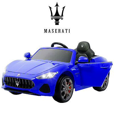12V Maserati Gran Cabrio Electric Kids Ride On Car Toy with Remote Control Blue