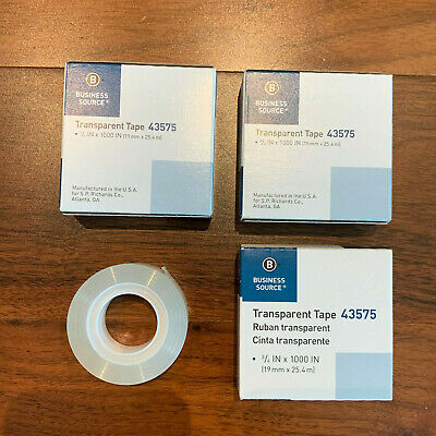 3 Pack Glossy Transparent Tape 1 Core 34 Refill Office Roll Ship Fast Free Us