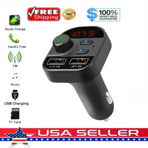 Bluetooth Car Wireless Adapter FM Transmitter MP3 Radio Car Kit 2 USB Charger