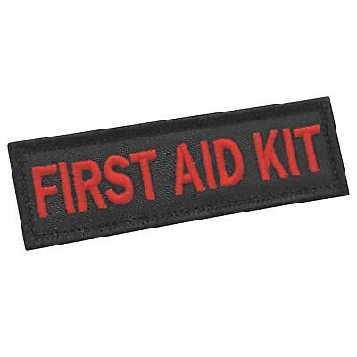 first aid kit 1x3 5 red/black EMS IFAK medical medic hook-and-loop patch