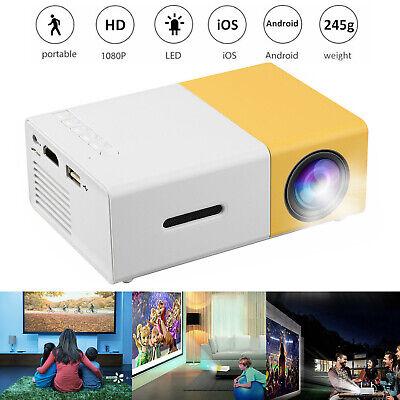 Portable Full HD 1080P LED Projector Smart Home Theater Cinema VGA/HDMI/USB/SD